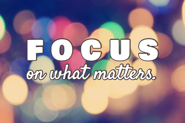 Staying Focused (1 min read)