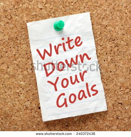 WRITE YOUR GOAL AND MAKE IT HAPPEN
